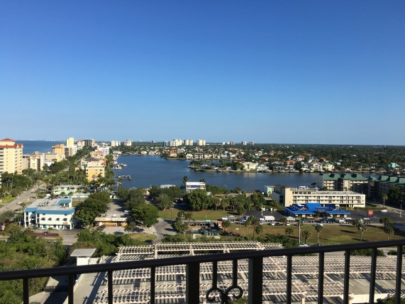 View from our room, The Ritz-Carlton, Naples, FL - tennistravelsite.com