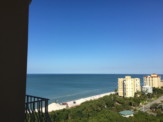 Ocean view from our room, The Ritz Carlton, Naples, FL