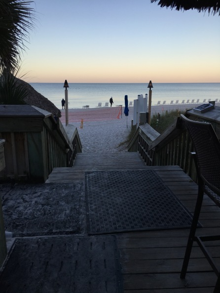 Join me in watching the sunrise on the beach, The Ritz Carlton, Naples, FL