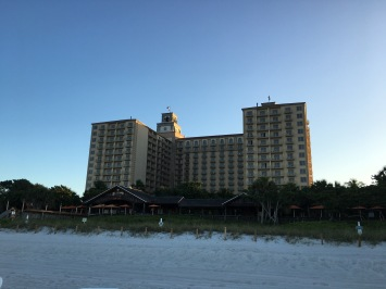 View of the Ritz from the shore, The Ritz- Carlton, Naples, FL - tennistravelsite.com