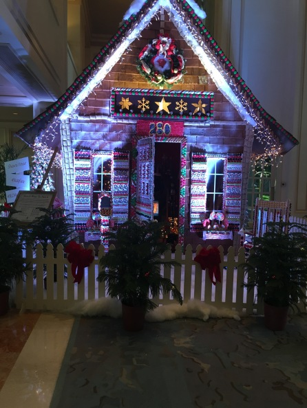 Holidays - life size gingerbread house, The Ritz-Carlton, Naples, FL - tenistravelsite.com