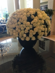 Beautiful rose arrangement, lobby, The Ritz Carlton, Key Biscayne, FL
