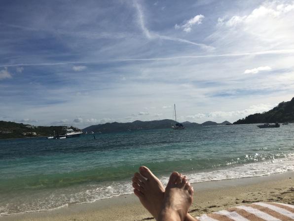 Relaxing by the ocean, The Ritz Carlton, St. Thomas, VI