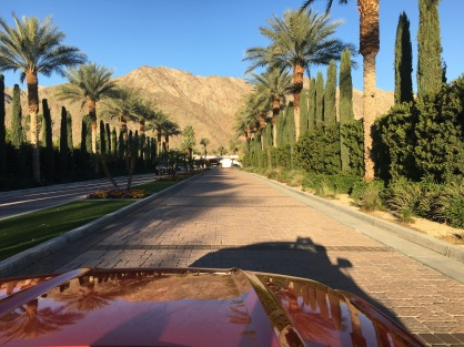Driving up to La Quinta Resort and Spa, Indian Wells, CA