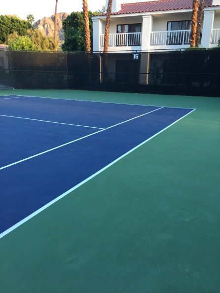 tennis court, La Quinta Resort and Spa, Indian Wells, CA