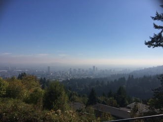 View from Pittock Mansion, Portland, Oregon