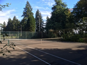 Portland Oregon, Japanese Rose Gardens, tennis courts!