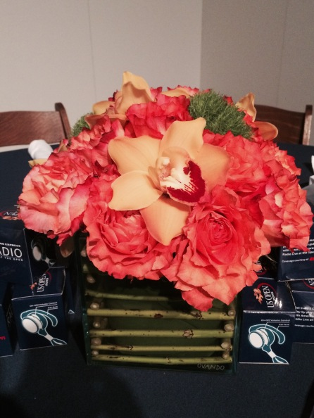American Express hospitality suite - floral centerpiece