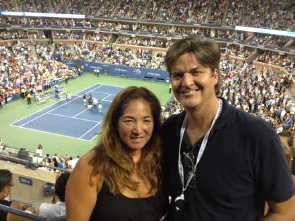 Loge seats the US Open - by the way stadium has a roof!