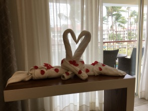 Aww...towel creation, Majestic Mirage Punta Cana, Dominican Republic