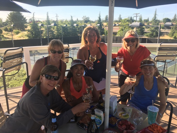 Tennis and then Wine! Love my Los Gatos friends. Great Tennis!