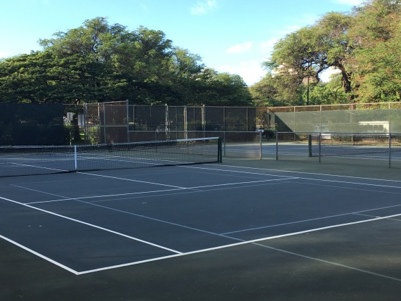 Diamond Head Tennis Court, Honolulu, Hawaii