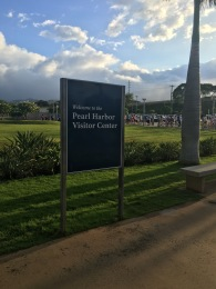 Pearl Harbor - long line to get in! Glad we were in a tour group!