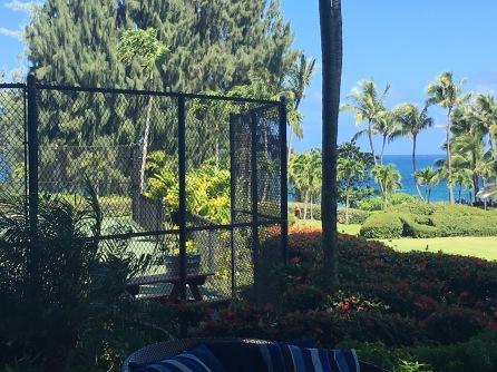 View from the tennis courts, The Ritz Carlton Kapalua, Maui, Hawaii