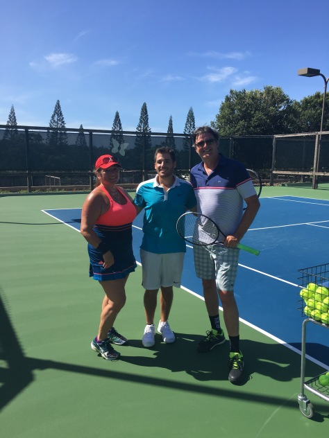 Nick, Head Tennis Professional, The Kapalua Tennis Garden, Maui, Hawaii