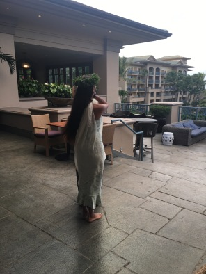 Sunset ceremony, The Ritz Carlton Kapalua, Maui, Hawaii