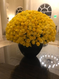 The grand flowers of the Ritz-Carlton Key Biscayne