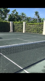 The beautiful hartru tennis courts, The Ritz-Carlton Key Biscayne